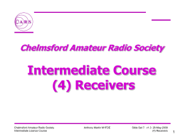 Receivers - Chelmsford Amateur Radio Society, G0MWT