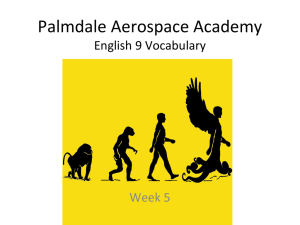 Palmdale Aerospace Academy English 9 Vocabulary