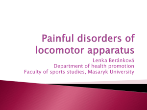 Painful disorders of locomotor apparatus - IS MU