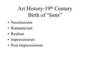 "Art History-19th Century Birth of ""Isms"""
