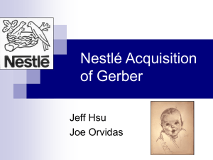 Nestle acquisition of Gerber