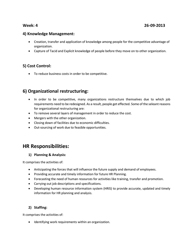hris requirements template