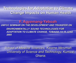 Technologies for adaptation to climate change impacts on human