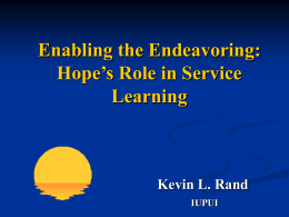 Enabling the Endeavoring_The Roles of Hope and Goals in Service