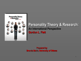 Personality Theory & Research