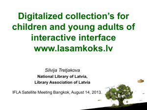 Digitalized collection's for children and young adults of