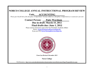 ACCT Annual Program Review 2012