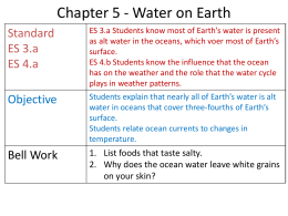 Chapter 5 Lesson 2 Where is fresh water found?