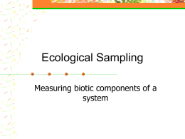 Ecological Sampling