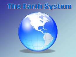 Atmosphere Hydrosphere Biosphere Geosphere The Earth System