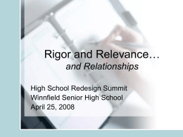 Rigor and Relevance - Louisiana Department of Education