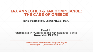 Presentation - International Conference on Taxpayer Rights