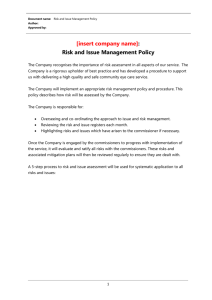 Microsoft Word - Risk Management Module.doc