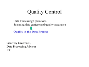 Quality Control: data processing