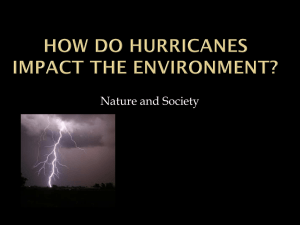 How do hurricanes impact the environment? - i21intel