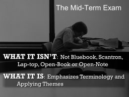 The Mid-Term Exam - Let's Get Down to Business