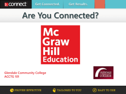 Are You Connected? - Glendale Community College