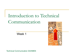 Introduction to Technical Communication