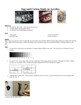 Egg and Carton Study Project Sheet