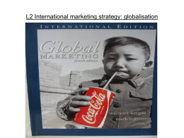 L2 International marketing strategy: globalisation