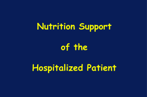 Nutrition Support in Critical Illness