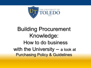 Purchasing Policy & Guidelines