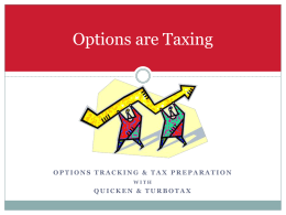 Options are Taxing - Option Strategy Club