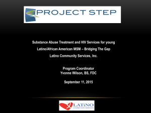 Substance Abuse Treatment and HIV Services for youngSubstance