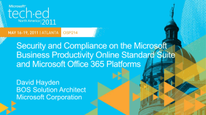 Security and Compliance on the Microsoft Business