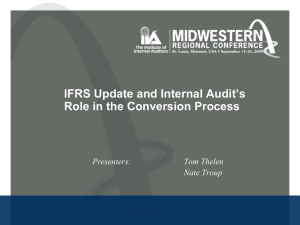 IFRS Update and Internal Audit's Role in the Conversion Process