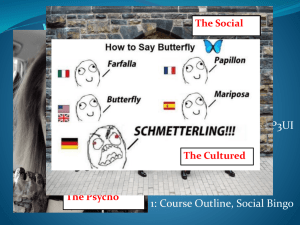 1. Intro to Social Sciences PPT - Mrs. Helmer