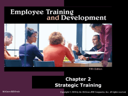 Chapter 2: Strategic Training