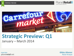3. Global: Q1 Strategic Changes