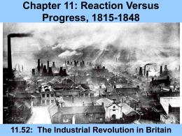 Chapter 11: Reaction Versus Progress, 1815-1848