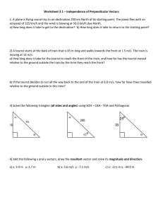 Physics 11 - Trignometry Review and Vector Addition Worksheet