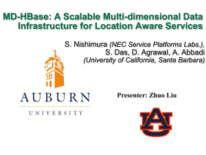 MD-HBase: A Scalable Multi-dimensional Data Infrastructure for