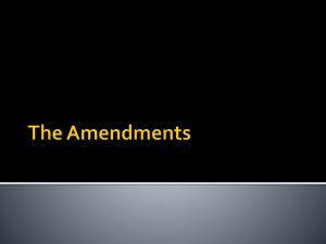 The Amendments - Lee County Schools