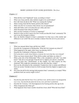 the giver chapter essay questions A chapter-by-chapter breakdown of questions that could be asked during the reading of the giver by lois lowry, and more extended-response questions for written responses linked to the app assessment focuses powerpoint has visual presentation of question.