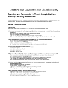 Doctrine and Covenants 1–75 and Joseph Smith—History Learning