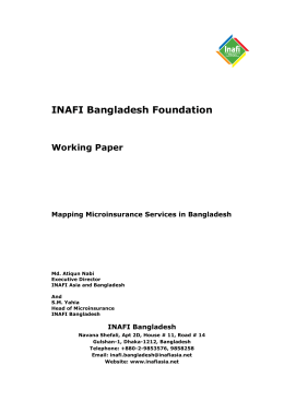 Mapping Microinsurance in Bangladesh_revised