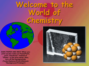 Introduction to Chemistry and Measurement