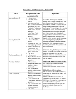 Date Assignments and Assessments Objectives