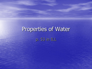 water property notes