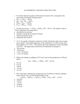 Thermochemistry worksheet #1