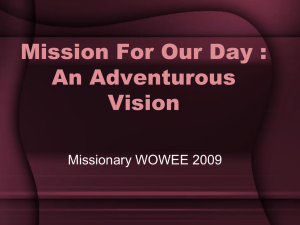 Welcome to the Adventurous Vision