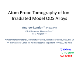 Andrew London - APT of ion-irradiated model