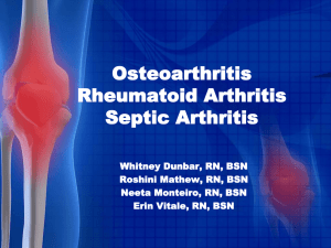 Diagnosis, Management, and Treatment of Osteoarthritis