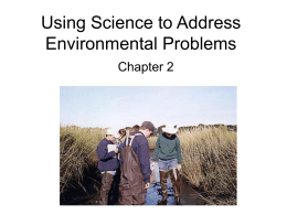 Using Science to Address Environmental Problems