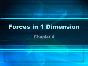 Forces in 1 Dimension