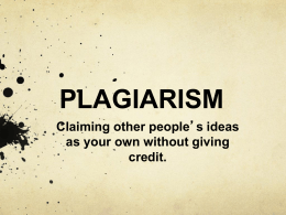 plagiarism - My Teacher Pages